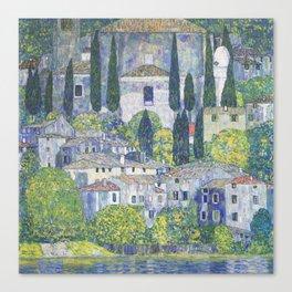 Gustav Klimt Church in Cassone Canvas Print