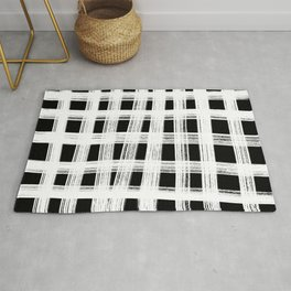 White cage Rug