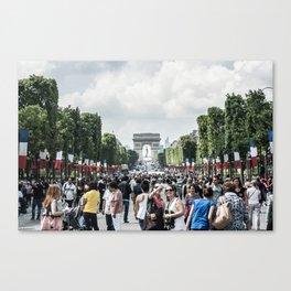 Avenue des Champs-Élysées - 14 July Canvas Print