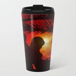 Silhouette Pair Sunset Tree Longing Love Metal Travel Mug