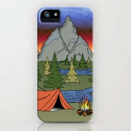 Camp Illustration iPhone Case