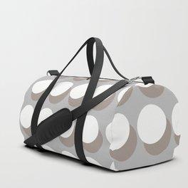 White Balls On A Grey Background #society6 #decor #buyart Duffle Bag