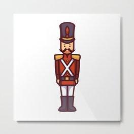 Christmas Soldier Metal Print