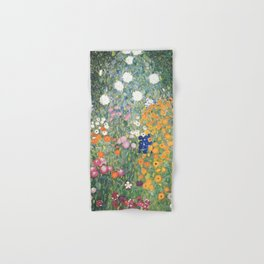 Gustav Klimt Flower Garden Hand & Bath Towel