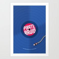 Pirate Radio poster (blue) Art Print