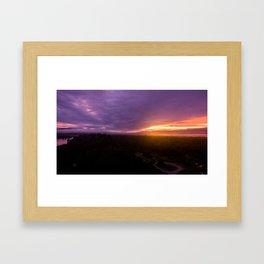 mahinapua golden hours Framed Art Print
