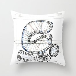 From Simplicity 2 Complexity series - Mitochondria Connections Throw Pillow