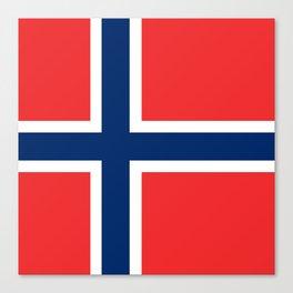 Flag: Norway Canvas Print