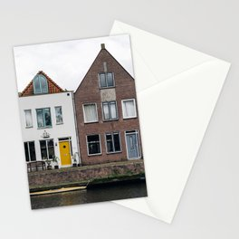 Row houses and Canal in The Netherlands Stationery Cards