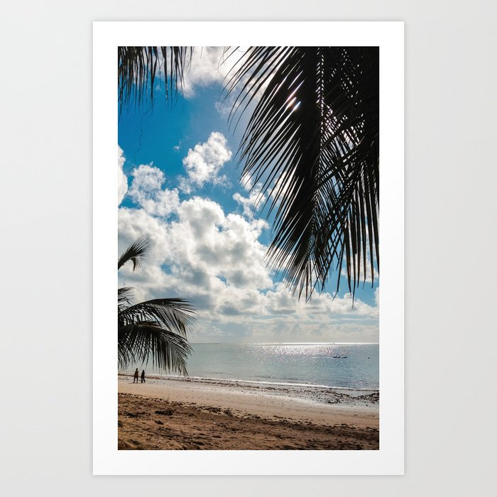 Couple at the beach Art Print