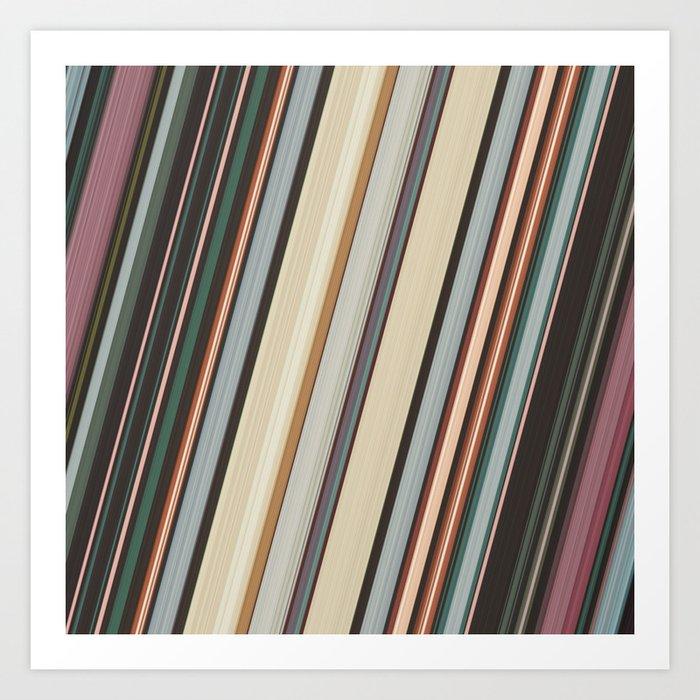 Earth Tone Stripes Art Print