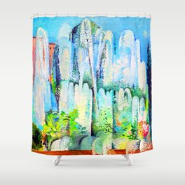 Alice Bailly Foutain in Rome Shower Curtain