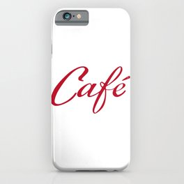Coffee - Café - Cafe - vintage typography iPhone Case