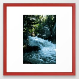 Raging Creek Framed Art Print