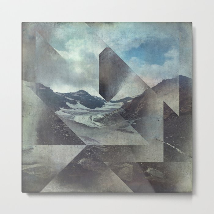 Mountains Glacier - Cuts Metal Print