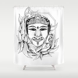 the mask (black and white version) Shower Curtain