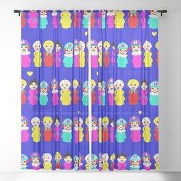 lil' Women People Sheer Curtain