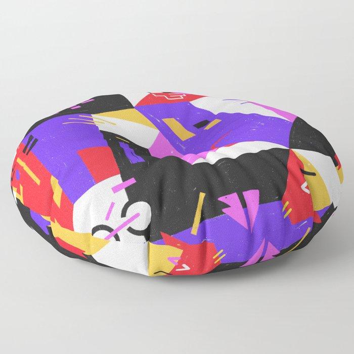 Multi-dimensional city Floor Pillow