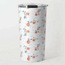 Watercolor Oranges Travel Mug