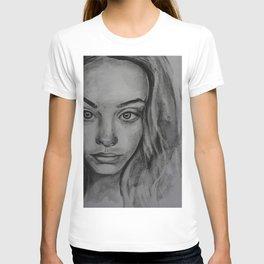 Coal portrait beautiful girl T-shirt