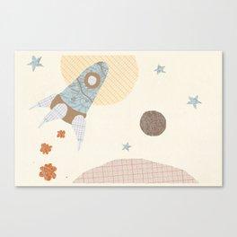 spaceship collage Canvas Print