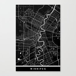 Winnipeg - Minimalist City Map Canvas Print