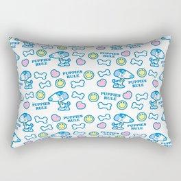Puppies Rule Pattern Rectangular Pillow