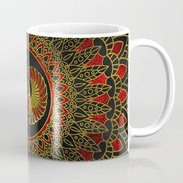 Egyptian Scarab Beetle - Gold and red  metallic Coffee Mug