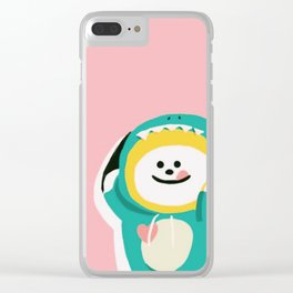 Dinosaur Chimmy (Pink Ver.) Clear iPhone Case