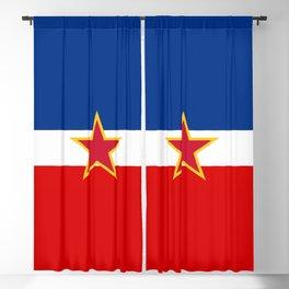 Yugoslavia National Flag Blackout Curtain