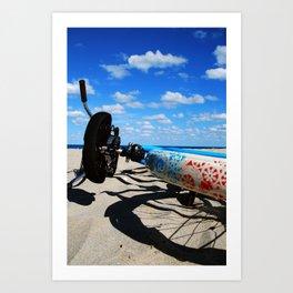 Beachin' Ride Art Print