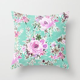 RAVISHING FLORAL Throw Pillow