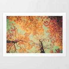 Autumn Inkblot - Yellow Art Print