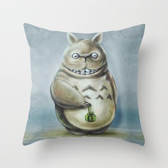 Miyazaki's Totoro - Totoros communis domestica Throw Pillow