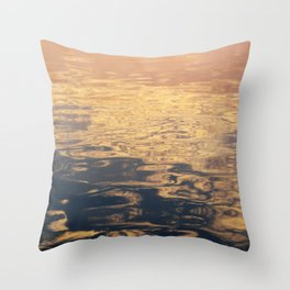 Marbled Sea Throw Pillow