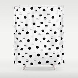 Polka Dot Gross Stripes Shower Curtain