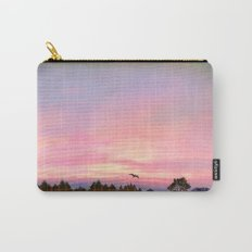 Rose Quartz and Serenity Landscape Carry-All Pouch