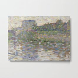 The Seine at Courbevoie Metal Print