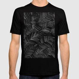 Tropical Palm Leaves – Black Palette T-shirt