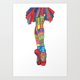 Happy Ballet 5 Art Print