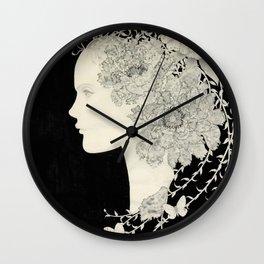 Fairy of flower Wall Clock