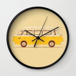 Yellow Van II Wall Clock