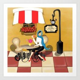 Cafe Belle Vie Nouveau Art Print