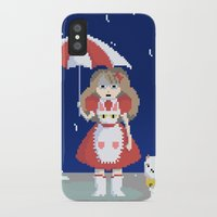 bee and puppycat iPhone & iPod Cases featuring Bee and Puppycat in the Rain by Paul Scott (Dracula is Still a Threat)