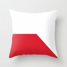 flag of Bratislava Throw Pillow