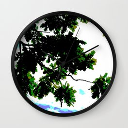 Oak tree branches and leaves Wall Clock
