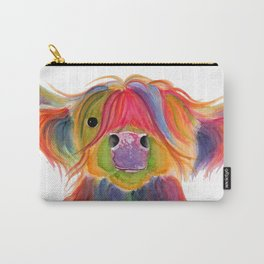 Scottish Highland Cow ' PENELOPE PLUM ' by Shirley MacArthur Carry-All Pouch