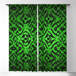 Green tribal shapes pattern Blackout Curtain