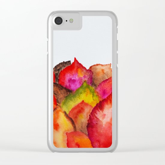 Autumn abstract watercolor 01 Clear iPhone Case
