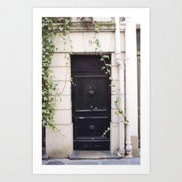 The Black Door at No. 9 Art Print